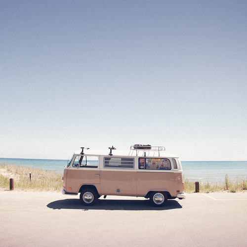 The Vw Bus United States Wisconsin Point Beach State