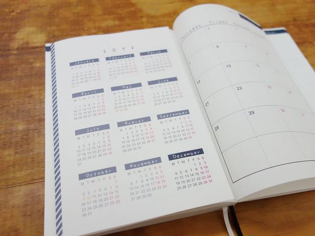 拉頁設計摺起來的樣子@W2Design 好聰明2017拉頁時效週記手帳