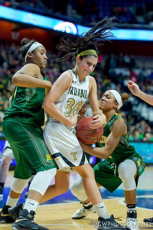 Trumbull vs. New London high - CIAC Class LL Girls Basketball Championship