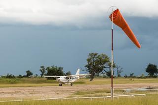 Landung Buschflieger am Kanana-Airstrip