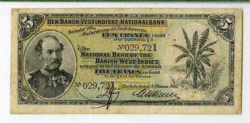 St. Thomas, Danish West Indies Banknote
