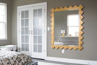 Zig Zag Dream Mirror in Master Bedroom | by emily @ go haus go