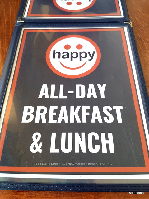 Happy All-Day Breakfast & Lunch menu cover