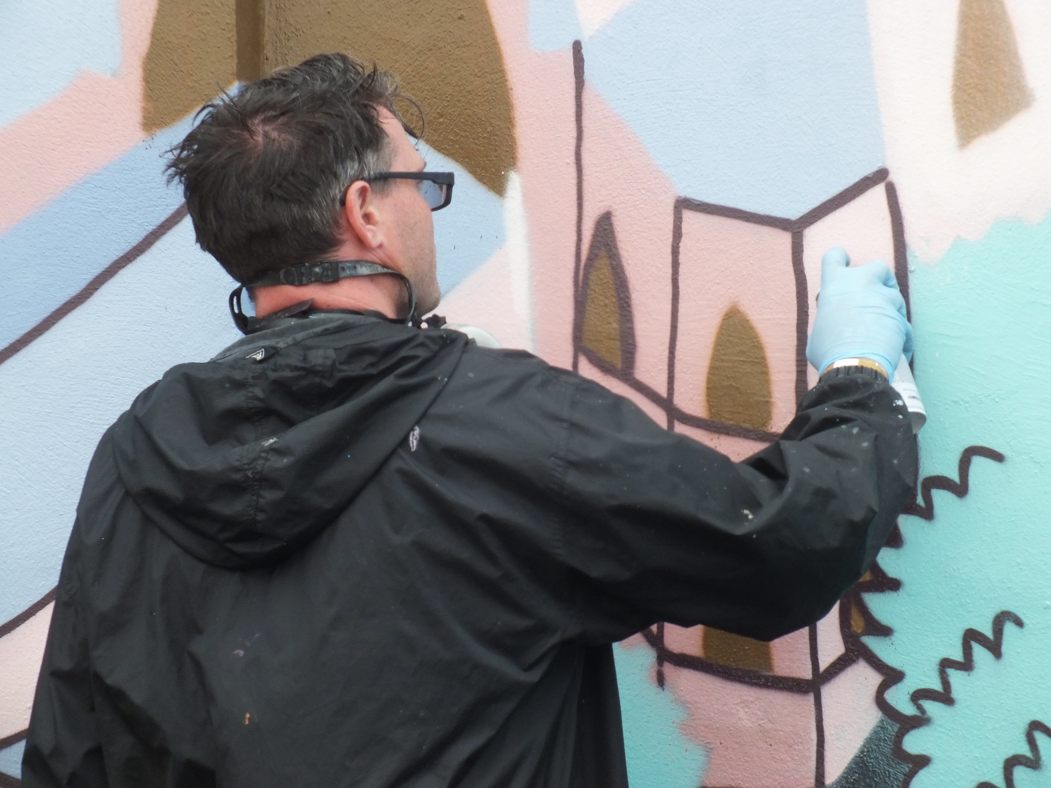 Andy Council at The Gloucester Paint Jam 2014