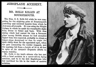 12th July 1910 - Death of Charles Rolls | by Bradford Timeline