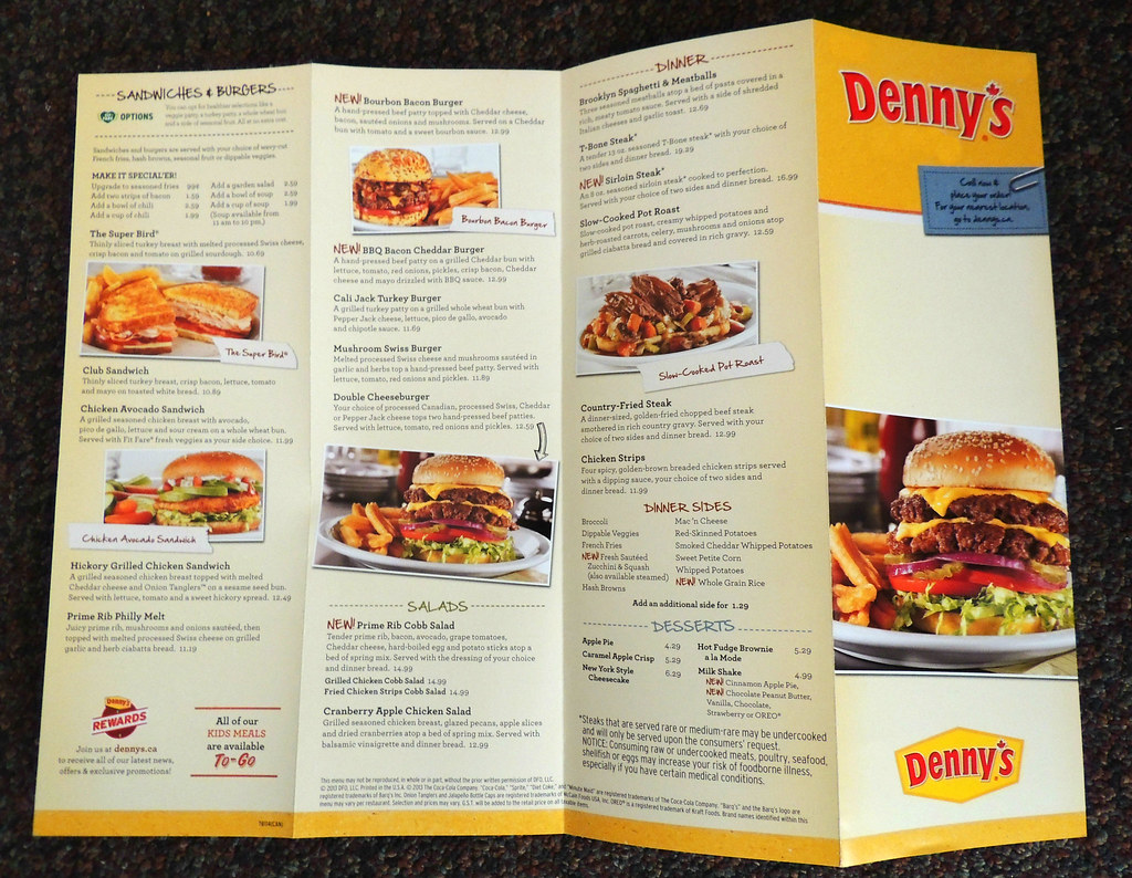 ... Denny's Take Out Menu | by Greg's Southern Ontario (catching Up ...