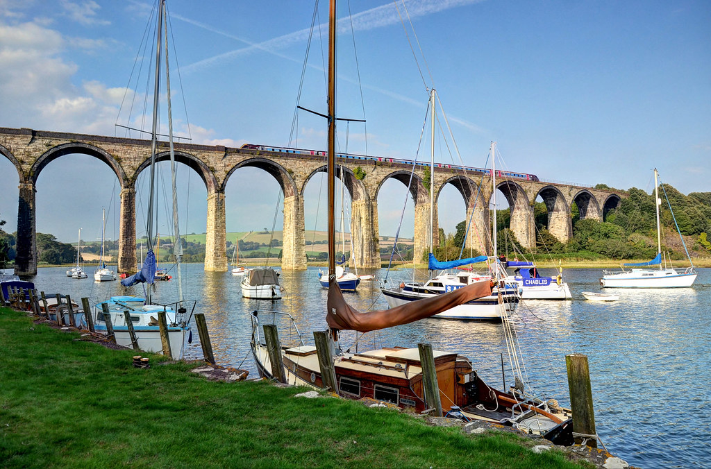 The St Germans Viaduct, Cornwall