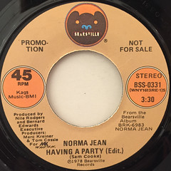 NORMA JEAN:HAVING A PARTY(LABEL SIDE-A)