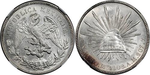 1908 - Mexico_1908Mo_peso_rev_Ponterio_169-223282