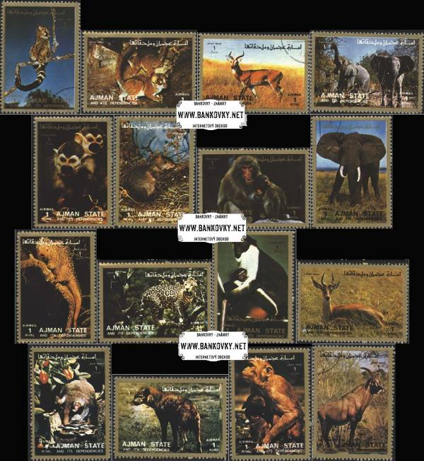 Známky Ajman 1972 Africké zvieratá, razítkovaná séria