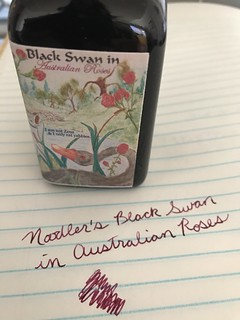 Noodler's Ink - Black Swan in Australian Roses | by green_thumbelina