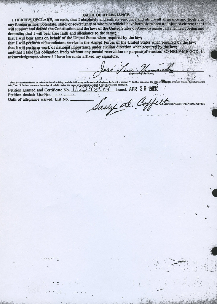 C 5 Jose Luis Hernandez Oath 1983 This Image Is Issued By Flickr