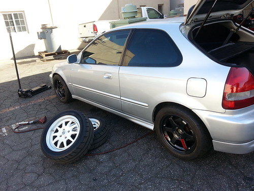 225 45 15 >> 15x8 35 offset volk te37 with 225-45-15 toyo r888 test fit… | Flickr