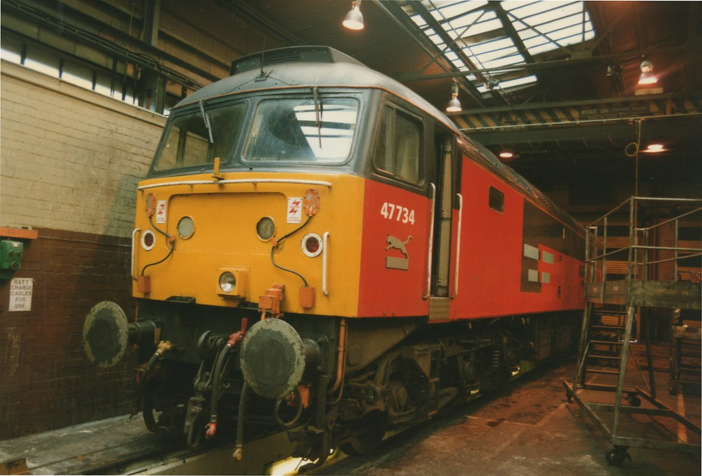 """... Res Class 47/7, 47734 """"Crewe Diesel Depot Quality Approved""""   by"""