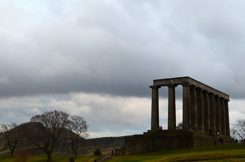 this is a picture of the national monument on Calton Hill