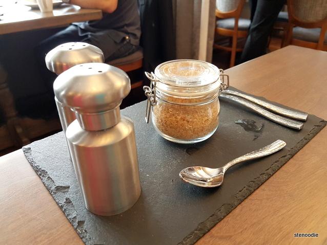 Salt and pepper shakers brown sugar