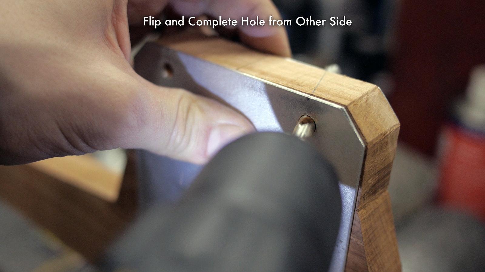 Finished Angled Holes