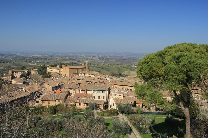 View from the fortress, San Gimignano