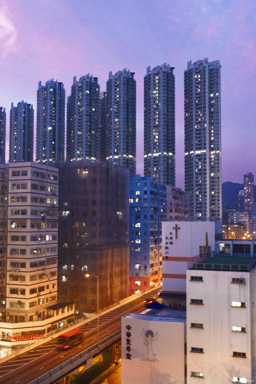 lavlilacs Hong Kong Tai Kok Tsui Sunset skyline