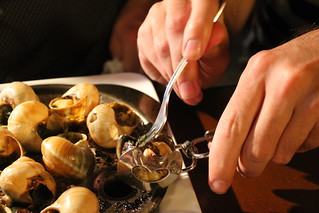 Trying escargots. | by ironypoisoning