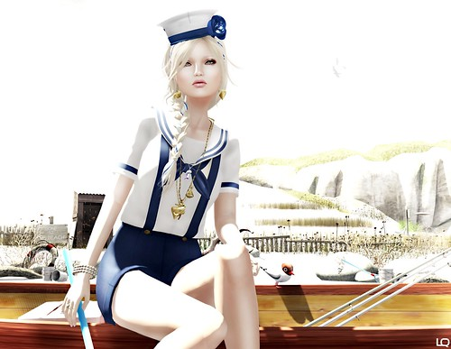 C88 June ufo sailor boyish outfit and  LaGyo_Sailor hat & Shell Necklace | by Lila Quander