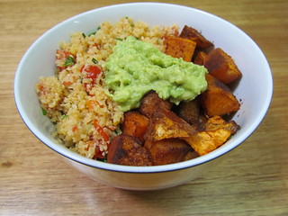 The Classic: Spicy Cauliflower Rice, Roasted Sweet Potatoes & Avocado Mash