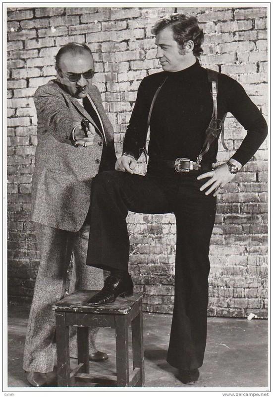 Peur sur la Ville - backstage 2 - Jean-Paul Belmondo et Henri Verneuil