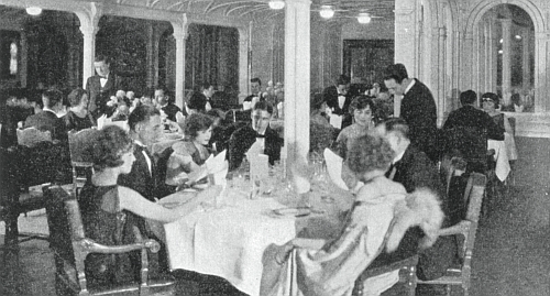 Dining Room Saloon Of RMS Titanic
