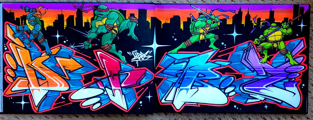 You the Mutant ninja turtle graffiti consider, that