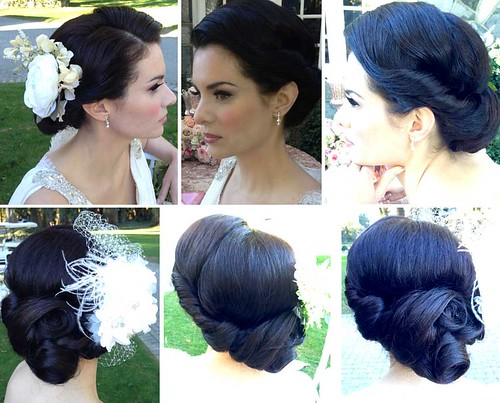 vintage-updo-pincurls-bridal-wedding-hair | by vanmobilehair