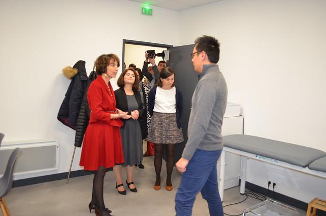 Marisol TOURAINE à l'inauguration de la MSP de Cormery