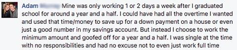 Money Mistake: Not Working