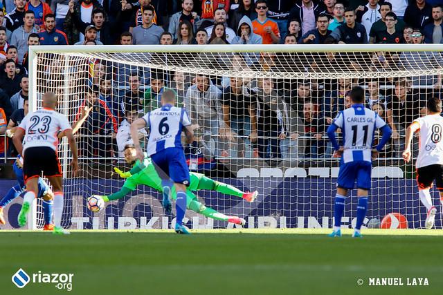 Liga Santander. Valencia 3 - Deportivo 0