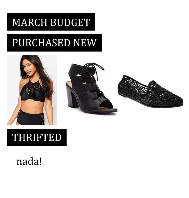 budgeting bloggers: March 2017 clothing budget recap
