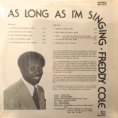 FREDDY COLE:AS LONG AS I'M SINGING(JACKET B)