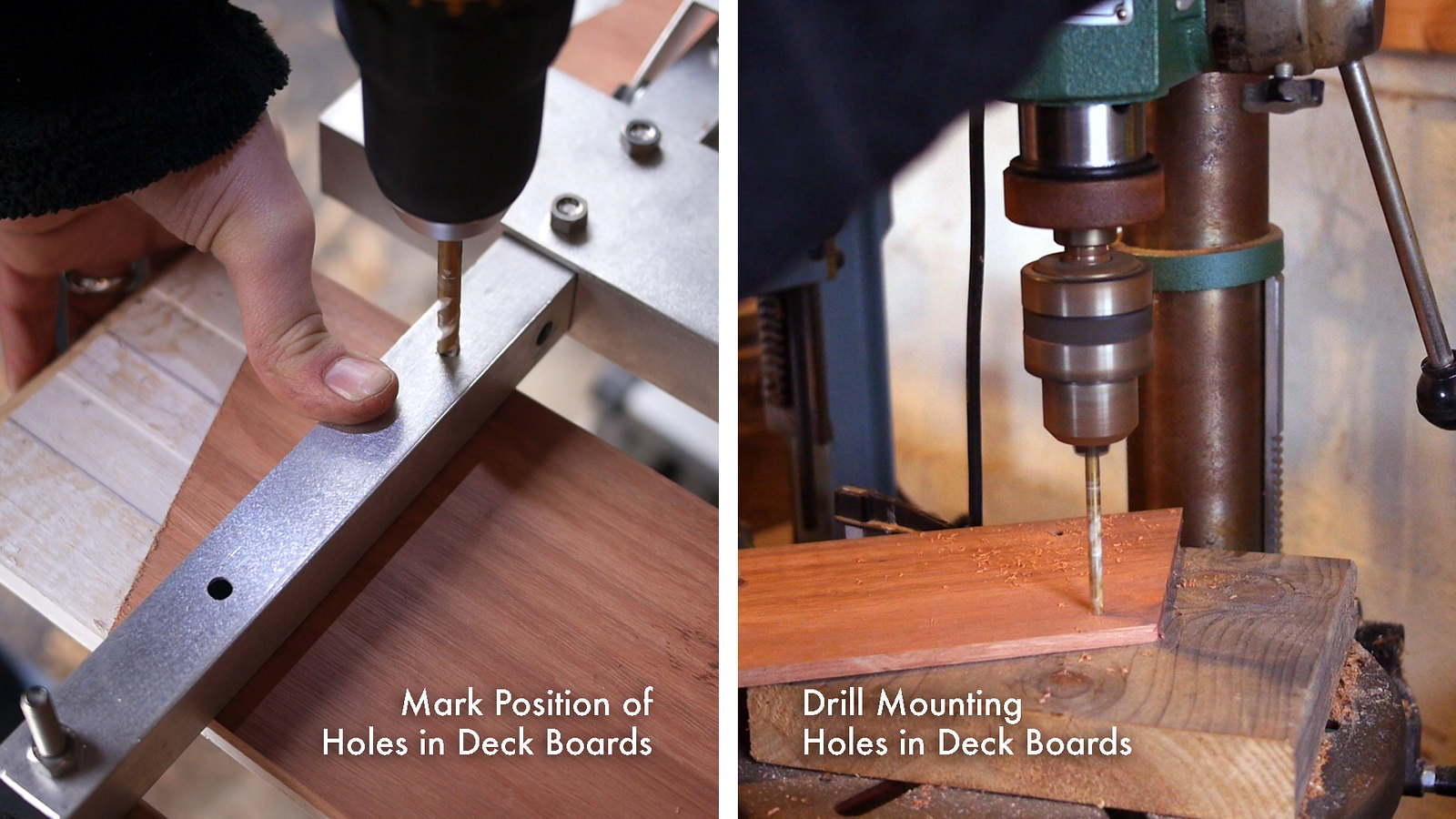Drill Holes in Deck Boards