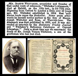 15th May 1895 - Death of Joseph Whitaker died | by Bradford Timeline