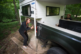 Natasha & Pete Loading Truck Camper | by goingslowly