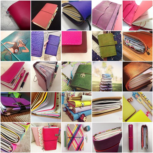 The Idea behind the Midori Traveler's Notebook System blog post. Photo showing some colorful Fauxdori Traveler's Notebook Love #inspiration collected by iHanna #midori #travelersnotebook