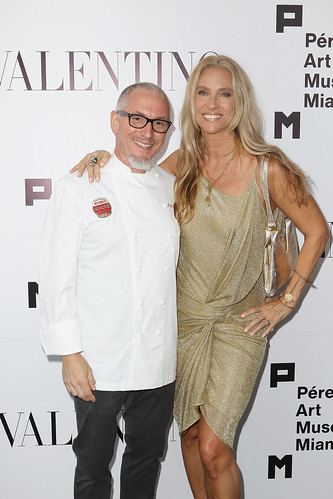 Celebrity Chef Michael Schwartz and wife Tamara Schwartz at PAMM Art Of The Party Presented By Valentino