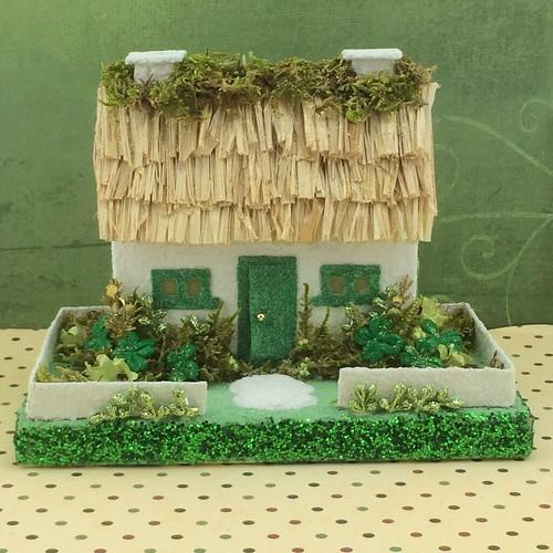 Irish cottage Putz house