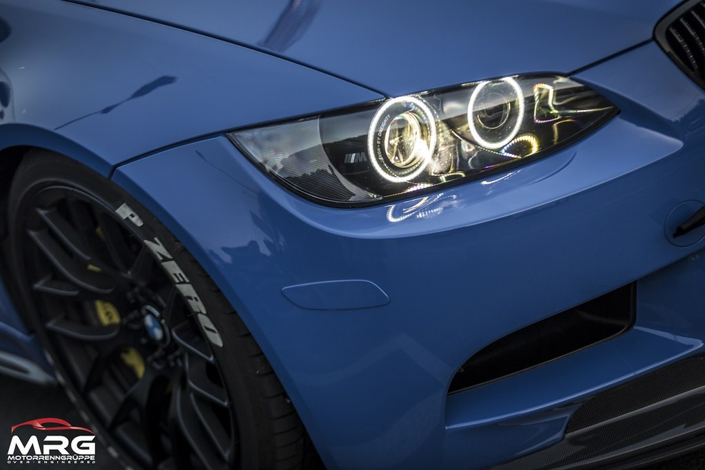 Bmw E92 M3 Santorini Blue Oneighty Custom Headlights Flickr