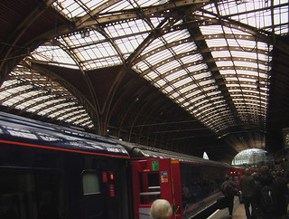 Intercity 125 train in London Paddington station on arrival from Swansea