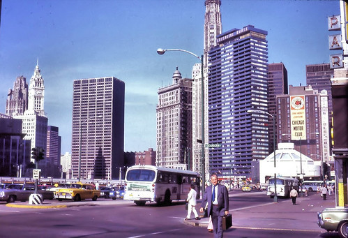 corner of Wacker and Dearborn in the 1974
