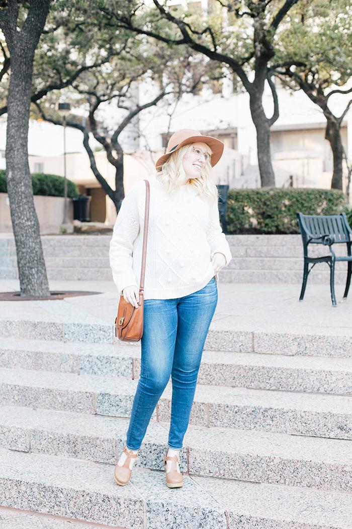 austin style blogger jcrew pom pom sweater clogs3