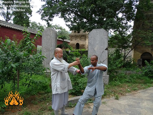 Indian Master Kanishka Sharma with his Master at the Temple | by INDIAN SHAOLIN