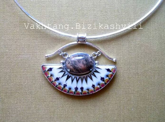 Cloisonne Enamel Jewelry Emailing Silver Necklaces Geor Flickr