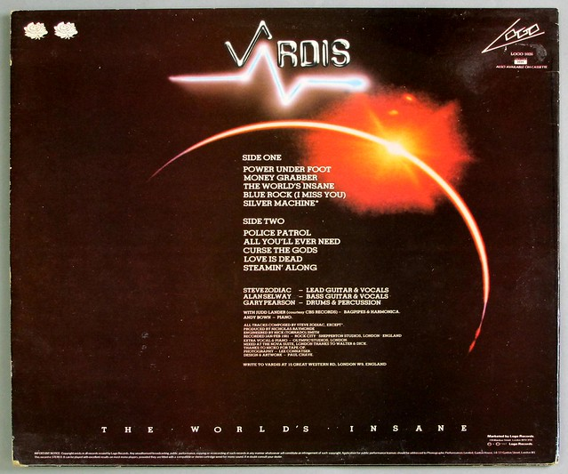 "VARDIS THE WORLD'S INSANE NWOBHM 12"" LP VINYL"