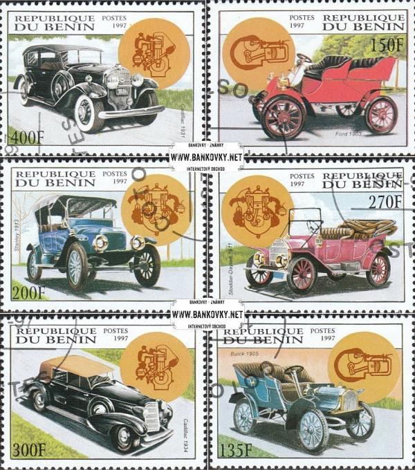 Známky Benin 1997, Staré automobily, razítkovaná séria