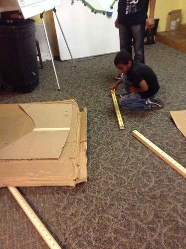 Andy working on his own club house - measure first, then build | by Mt Elliott Makerspace